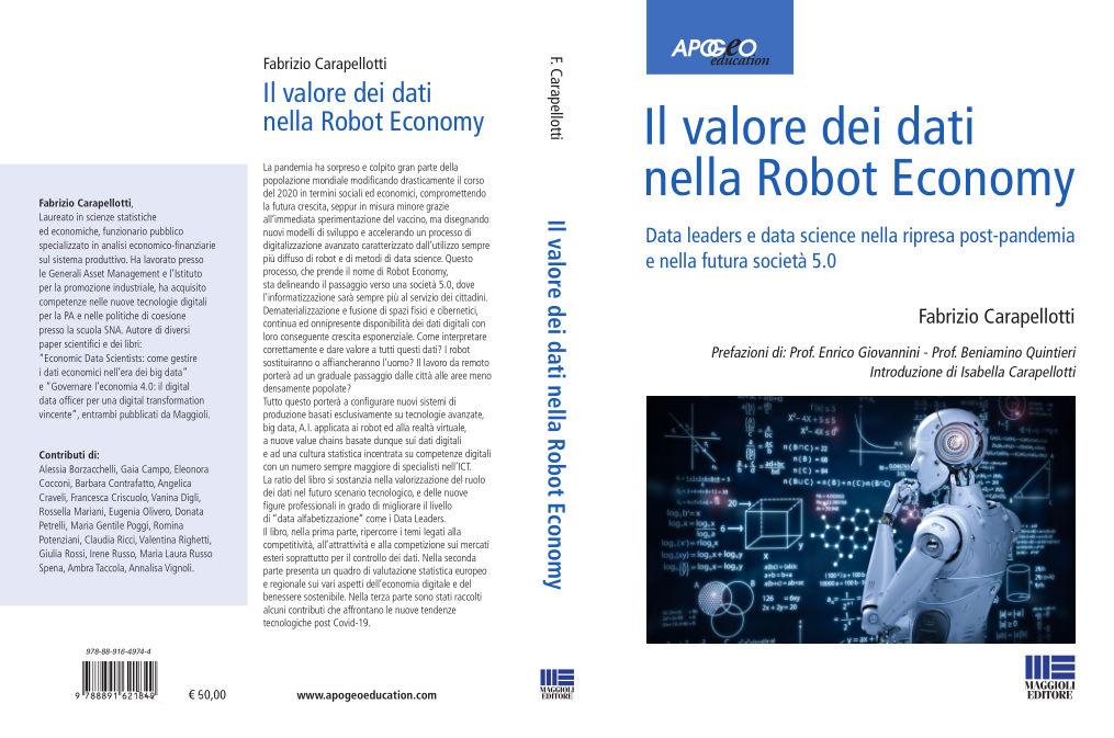 Copertine Libro Il Valore dei Dati nella Robot Economy Fabrizio Carapellotti Donata Petrelli Maggioli Editori Apogeo